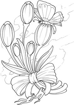 Creative Haven Floral Tattoo Designs Coloring Book Dover Publications
