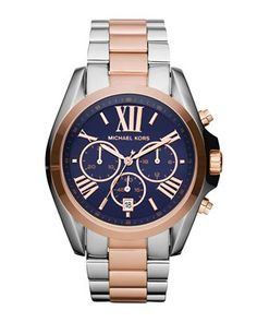 silver/rose/navy chronograph