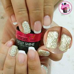 #angelprogelly #nail #nailart #naildesign #gellyart #handdrawn #princessnail