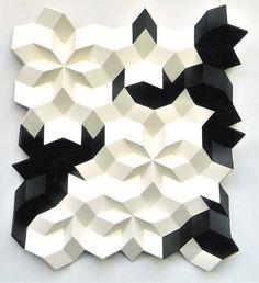 Reliefstructure 9V-1, 2003, p, eg, aluminium, paint | Gerard Caris