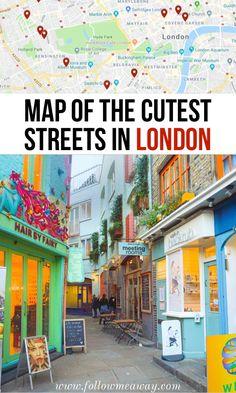 Ruas bonitas e bonitas em Londres, # london London Map, London Places, London Travel, London City, London England Travel, Tourism London, Borough Market London, London Pubs, London Food