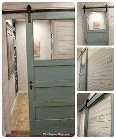 LOVE THIS DOOR - so want to do this to mine  Batchelors Way: Laundry Room Reveal or How to Pack Lots of Function into Your Laundry Room for Less!