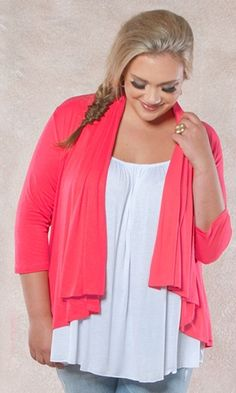 Summer trend: Pink Passion is vivid and stunning in thi easy to wear Open Cardigan! $39