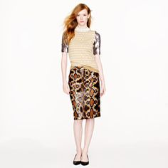 J CREW: Collection No. 2 pencil skirt in python