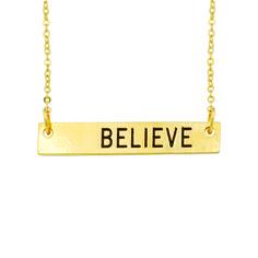 Christian Necklace - Believe Bar on SonGear.com - Christian Shirts, Jewelry