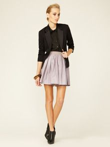 Leather Embossed Flared Skirt by 3.1 Phillip Lim at Gilt