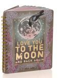 "Moon and Back Spiral Notebook 7"" x 9"""