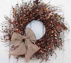 Halloween Decor - Halloween Candy Corn Wreath - Fall Wreath - Primitive Wreath - Halloween Door Wreath - Halloween Wreath - Farmhouse by Designawreath on Etsy