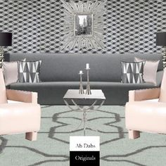 Art Deco Inspired Living Room by Abigail Norris