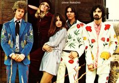 The Flying Burrito Brothers in suits by Nudie