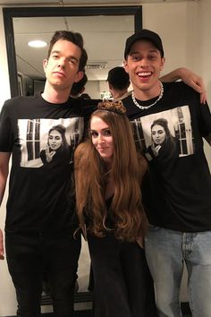 John Mulaney's Wife Got Him and Pete Davidson Special SNL Gifts: Her Face on Matching Shirts! Asian American, American Women, John Mulaney Wife, Beautiful Boys, Pretty Boys, Cute Celebrities, Celebs, Cute Celebrity Couples, Saturday Night Live