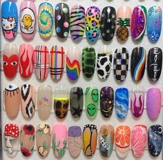Discovered by ♡Meet The Beatles♡. Find images and videos about nails on We Heart It - the app to get lost in what you love. Edgy Nails, Aycrlic Nails, Funky Nails, Stylish Nails, Swag Nails, Soft Grunge Nails, Grunge Nail Art, Cow Nails, Shellac Nail Art