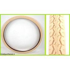 Copertone 26 x 1 3/8 ideale per Bicicletta Olanda donna - Color Crema