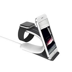 This Apple Watch Cradle is a Simplistic elegance and easy functionality for Apple Watch & iPhone & ipad & other Apple devices. Compatible with both the 38mm and 42mm sizes Apple watch. Line slot perfect fit for the charging line. The clean aesthetic coupled with a raised structure enables a clear view of both the iphone and watch