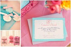glam spa pastel party 3