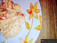 risotto con crema di zucca e gamberi