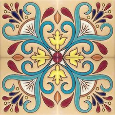 Mexican Talavera More Pins Like This At FOSTERGINGER @ Pinterest Stained Glass Patterns Free, Mosaic Patterns, Dot Painting, Fabric Painting, Tile Art, Mosaic Art, Painted Books, Hand Painted, Islamic Art Pattern