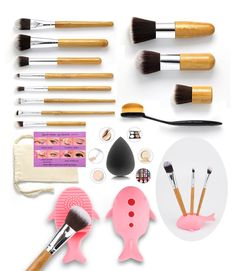 Makeup Brush Set 12 Pieces Cosmetic Tools Professional Face Eyeliner Blush Contour Foundation Cosmetic Brush Kit for Powder Liquid Cream. Buy brushes and get extra gifts: brush cleaner, brush drying stand, sponge blender and eye stencils. Earth friendly high quality synthetic fibers and bamboo handles, the packaging is a nice burlap-like pouch. Silky soft brush hairs are well cut by hand, dense and thick so it won't shed or lose bristles and will still be amazing even after washing. Easy…