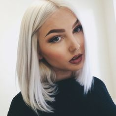 Snow white with a killer brow! #WhiteHair #WhiteHairdontcare #PlatinumBlonde
