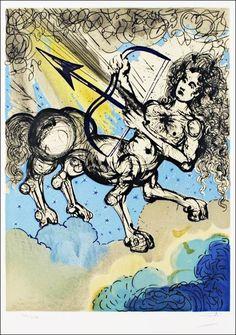 1967年にスペインのシュルレアリスムを代表する画家サルバドール・ダリが描いた「黄道十二星座」のリトグラフです。星座占い(星占い)でも使用されている12星座を鬼才ダリが描くとこうなります。1. おひつじ座(...