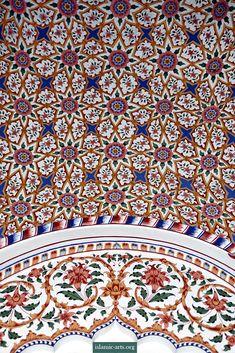 Interior of the Bahawalpur Mosque, Aitchison College Lahore.