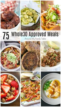 whole 30 recipes One Month of Recipes is all youll need to successfully complete a round of From delicious suppers to snacks and even a few desserts. The month will fly by with the help of these recipes! Whole Foods, Whole 30 Snacks, Whole 30 Lunch, Whole 30 Diet, Whole 30 Breakfast, Paleo Whole 30, Whole Food Recipes, Diet Recipes, Healthy Recipes