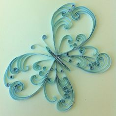 unknown artist. open scrolls butterfly