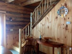 Interior Stairs, House Stairs, Log Homes, Loft, Furniture, Home Decor, Timber Homes, Decoration Home, Room Decor