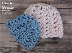 The Carrie Beanie by mamma That Makes. A free preemie crochet pattern released for the 2016 itty bitty giant hat drive.
