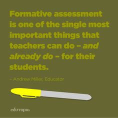 Formative assessment for the win!