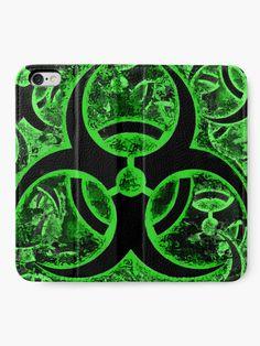 'Biohazard warning pattern, bio waste sign, symbol' iPhone Wallet by cool-shirts