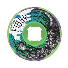 OJ 87a Figgy Keyframe Wheels, 54mm, Neon Green/Violet - http://shop.dailyskatetube.com/?post_type=product&p=2449 -  OJ makes wheels for skateboarding. Whether or not your cruising to the liquor retailer, skating the park or hitting a filthy street spot, OJ urethane has you coated.  Figgy's signature Keyframe. This can be a comfortable cruiser wheel. Often referred to as a filmer wheel. Best for rugged streets, -