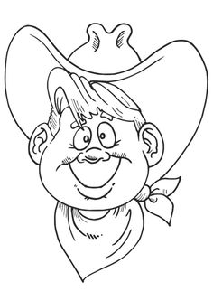 ausmalbild cowboy | ausmalen, ausmalbilder, cowboy