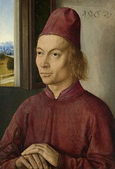 Portrait of a Man, possibly Jan Van Winckele, by Dirk Bouts, 1462, the National…