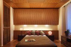 リゾートホテルのような寝室のインテリア実例