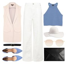 """""""little"""" by jiabao-krohn ❤ liked on Polyvore featuring Zara, Maison Margiela, Topshop, Whistles, Linea Pelle, H&M, Charlotte Russe and Mykita"""