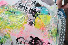 alisaburke: plastic bag printmaking  - ooooh trying this ASAP! lol