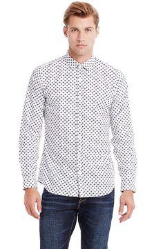 Modern Dot Print Shirt - Shirts - Mens - Armani Exchange