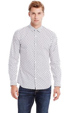Modern Dot Print Shirt - Shirts - Mens - Armani Exchange