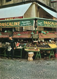Shellfish market in Marseilles from The Cooking of Provincial France, 1968