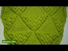 Punto (puntada) ROMBOS con ELEMENTOS CALADOS. Tejido con dos agujas # 261 - YouTube