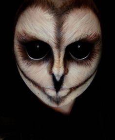 30 besten gruseligen Halloween-Make-up-Ideen gruselig gruselig und entsetzlich Face Off Id Owl Makeup, Makeup Fx, Animal Makeup, Cosplay Makeup, Costume Makeup, Makeup Ideas, Zombie Makeup, Makeup Tutorials, Looks Halloween