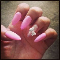 Pink Claws with bow