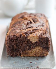 Chocolate swirl banana bread - vegan & gluten-free