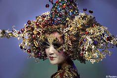 beaded headgear / china fashion week / 2008