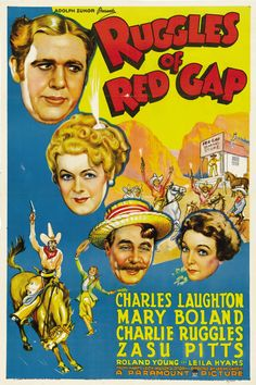 US one sheet for Ruggles of Red Gap (Leo McCarey, USA, 1935).