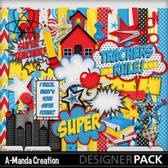 Super Teacher Digital Scrapbooking Kit