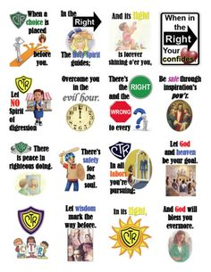 Choose the Right song on one sheet, give to older primary to help with their Faith in God goal of learning the song.