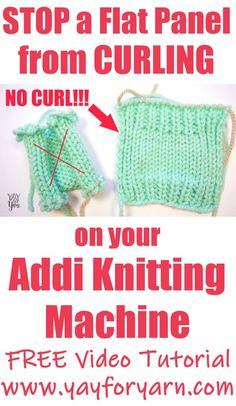New Free of Charge knitting machine patterns Suggestions How to STOP a Flat Panel from Curling on your Addi Knitting Machine – Yay for Yarn Addi Knitting Machine, Loom Machine, Circular Knitting Machine, Knitting Machine Patterns, Loom Knitting, Knitting Stitches, Baby Knitting, Free Knitting, Knitting Ideas