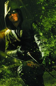 """Stephen Amell as Oliver Queen, whose a millionaire playboy by day, and a green-hooded, bow-and-arrow wielding vigilante by night, known as """"Green Arrow. The Arrow, Arrow Cw, Arrow Oliver, Arrow Image, The Vampire Diaries, Green Arrow, The Flash, Teenage Mutant Ninja Turtles, Ncis"""